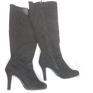 Sbicca High heel boots zipper suede 8M